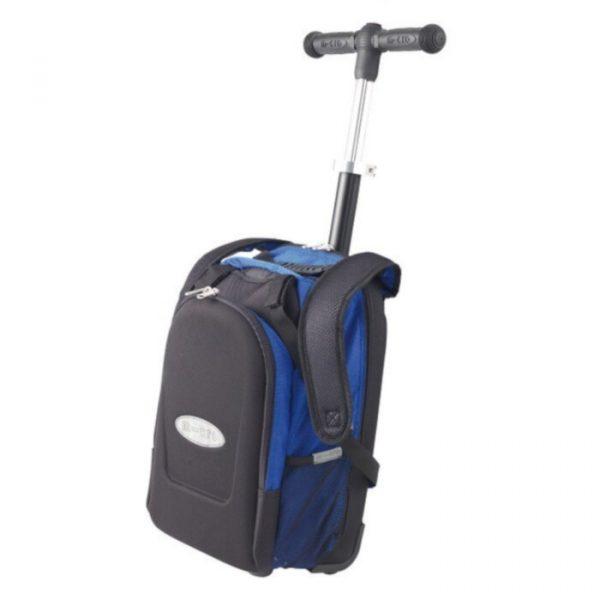 Set T-upravljač i ruksak za maxi romobil plavi