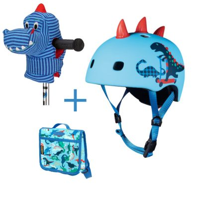 Komplet kaciga & ruksak & glava dinosaura