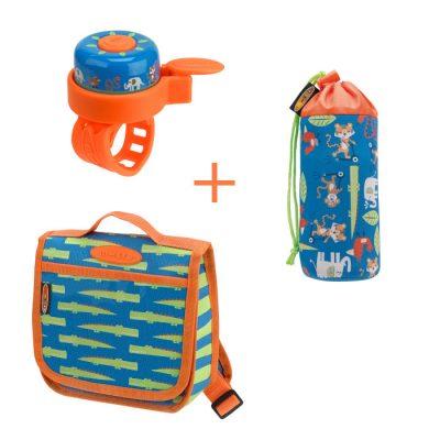 Komplet ruksak & držak za boce & zvono džungla