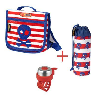 Komplet zvono & ruksak & držak za boce gusari